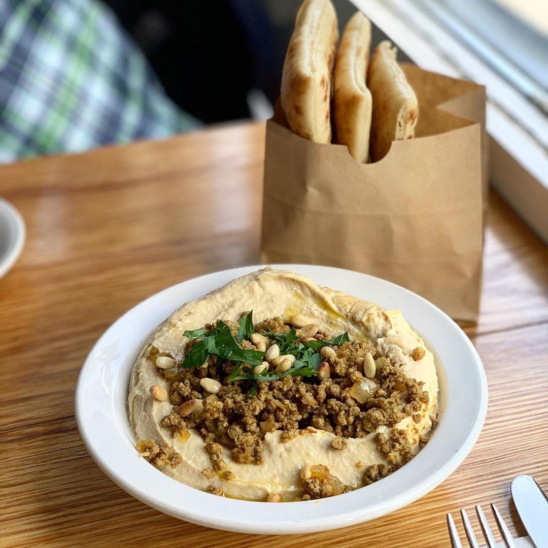 Hummus Basar at Balaboosta, a great take on a hummus dish • • •