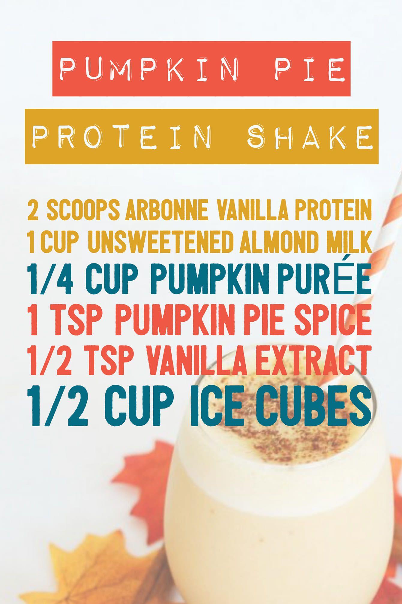 Delish Pumpkin Pie Protein Shake w/ Arbonne Vanilla Protein #arbonnerecipesdetox