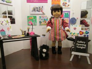 how to make american girl art gallery - How To Make A American Girl Room