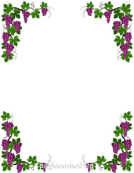 Printable Grape Vine Border Use The Border In Microsoft Word Or Other Programs For Creating Flyers Invitations And Othe Grape Vines Vine Border Page Borders