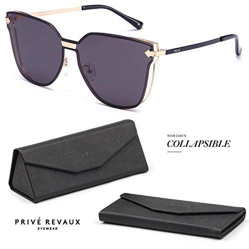 "f2583adcbd5 PRIVE REVAUX ""The Madam"" Handcrafted Designer Futuristic ... Celebrity  Sunglasses"