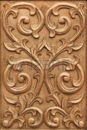 Wood Carving Designs Flower