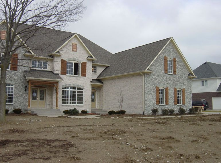 4 Bedroom 2 Story 5000 Sq Ft House Floor Plans Stone and Brick