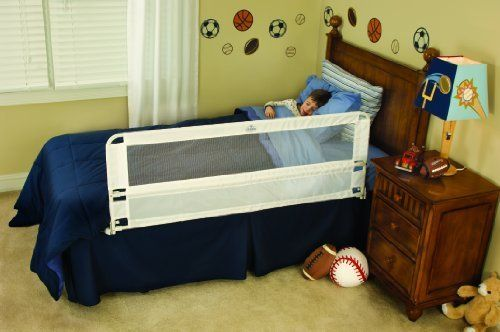 Regalo Hide Away Extra Long Bed Rail White With Images Extra Long Bed Bed Rails For Toddlers Safety Bed