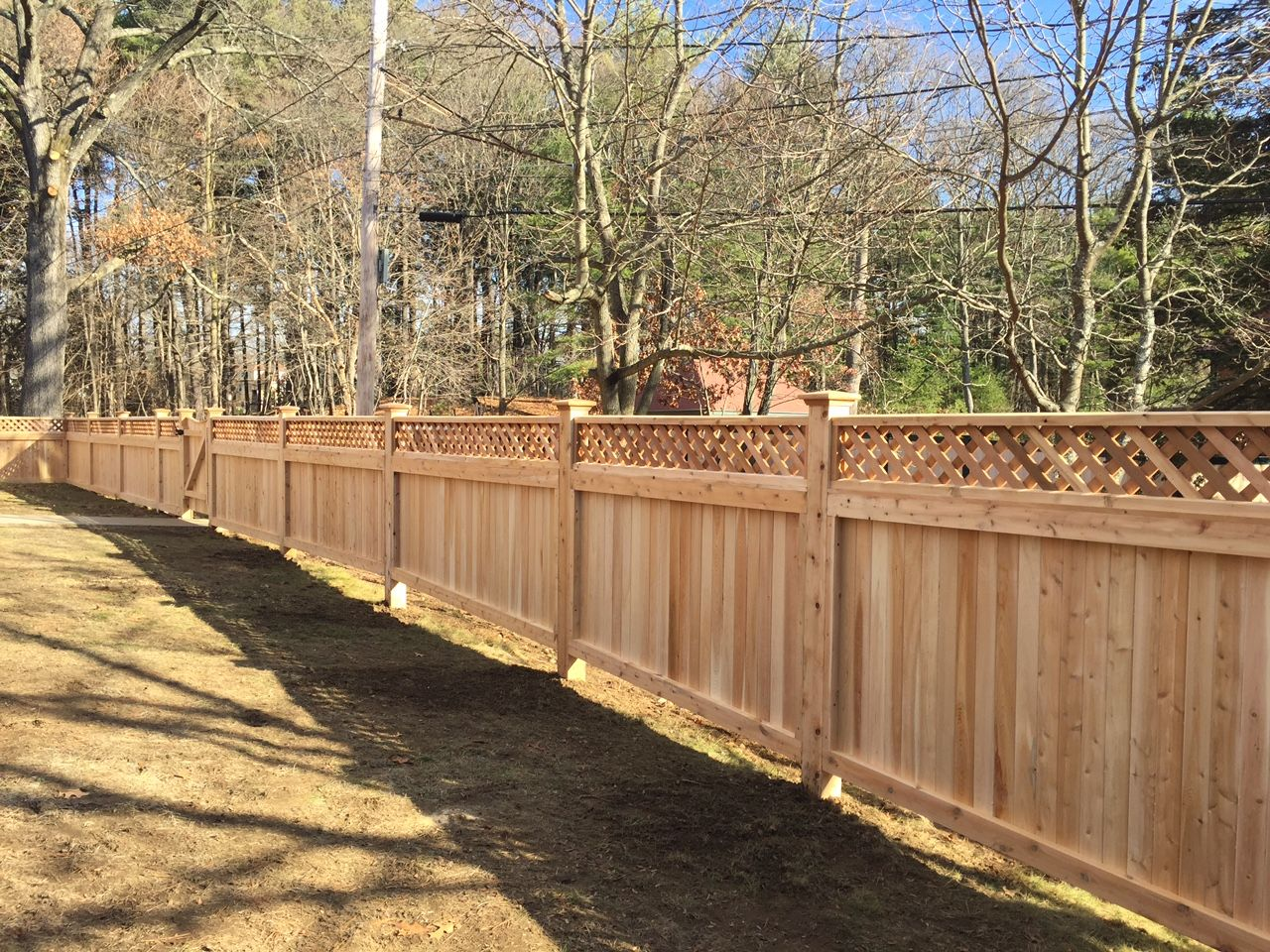 Diamond lattice top cedar fence over a universal tongue and groove diamond lattice top cedar fence over a universal tongue and groove base baanklon Choice Image