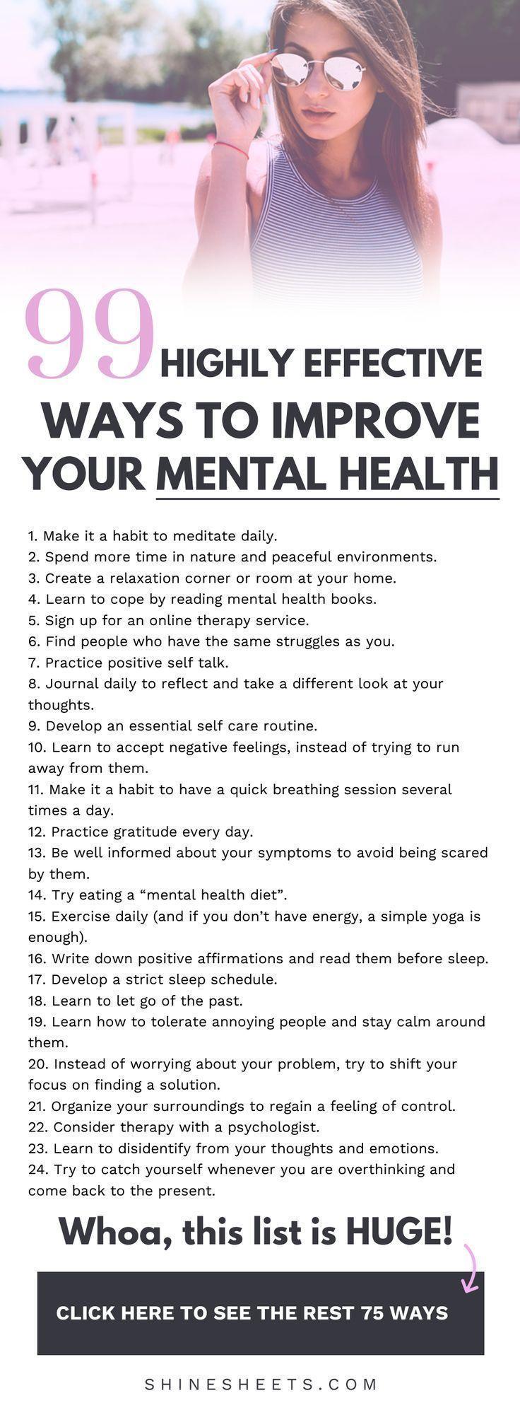 99 Ways To Improve Your Mental Balance   ShineSheets
