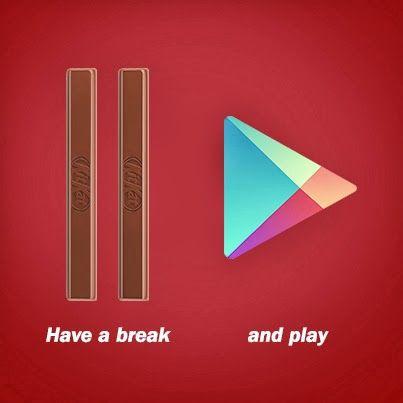 #HaveABreak or #Play #Android 4.4 Kitkat #KitKat #Google ...