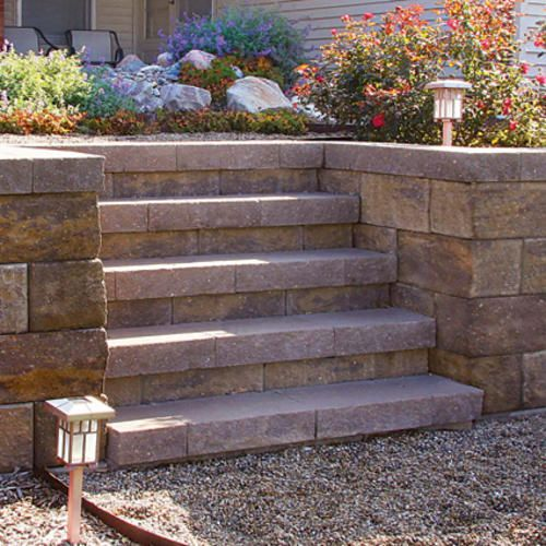 denver straight retaining wall block at menards on wall blocks id=51356