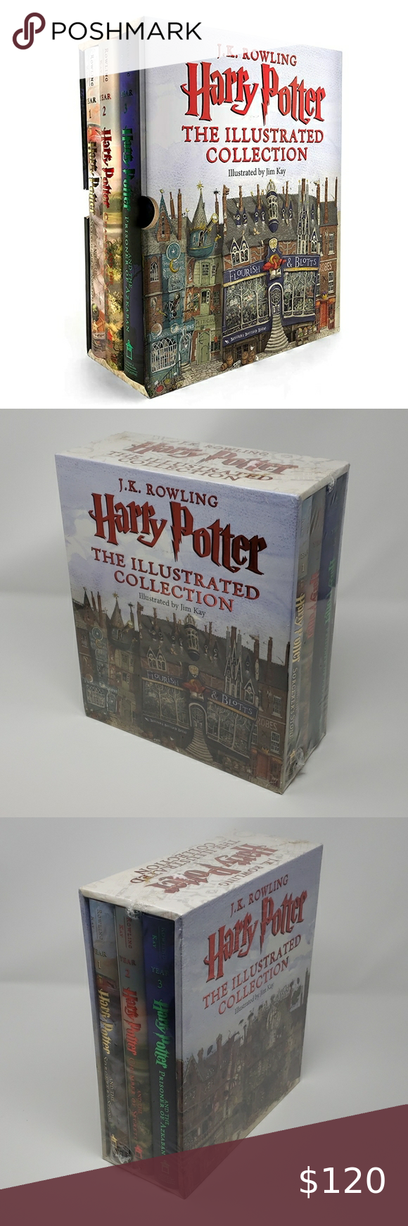 Nwt Harry Potter Illustrated Collection Book Set In 2020 Harry Potter Illustrations Harry Potter Illustrated Book Book Set