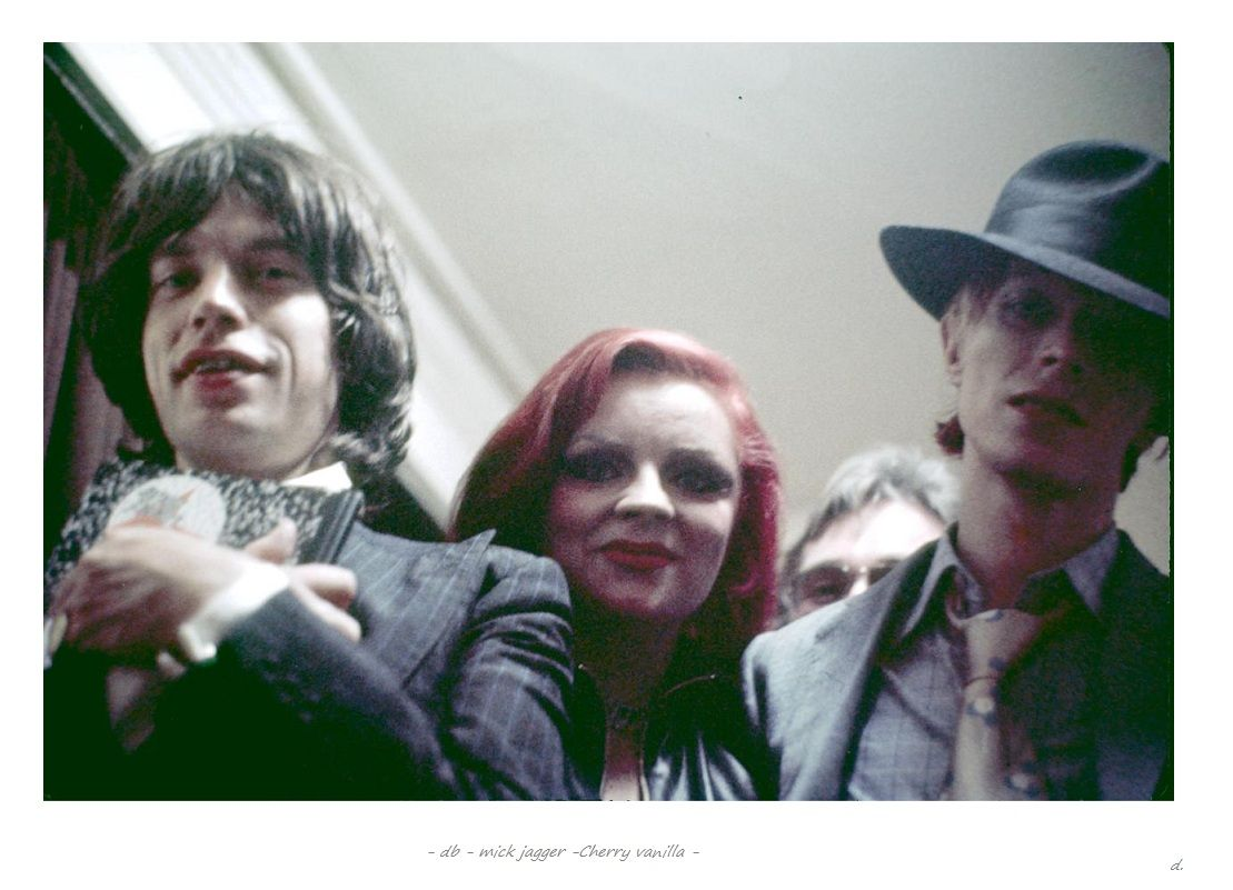 With Mick Jagger & Cherry Vanilla, 1974