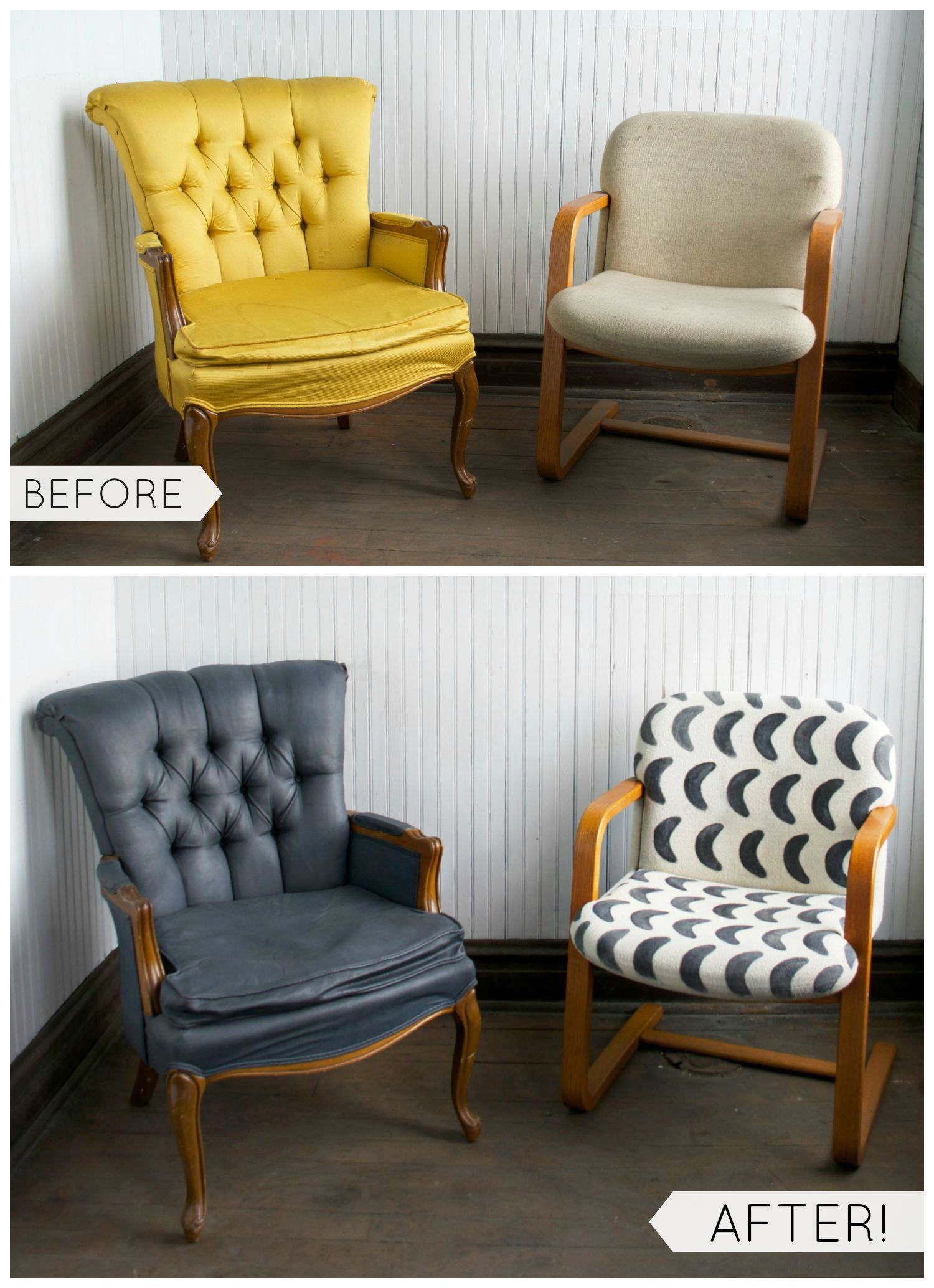 Diy Fabric Chair Makeover With Paint Fabric Chairs Makeover Diy Furniture Easy Furniture Makeover