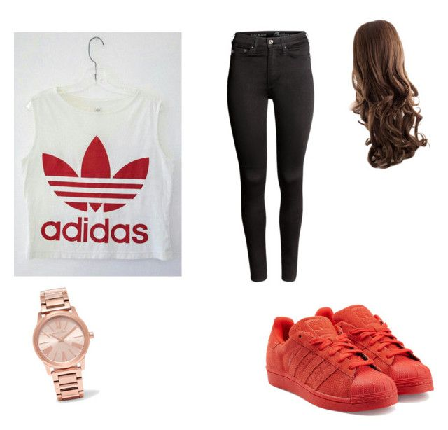 """Untitled #1"" by alyvinsik on Polyvore featuring adidas Originals, H&M and Michael Kors"