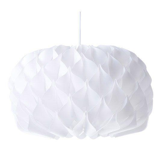 LoDo® Art Fer Cercles Lustre et suspension Ø32cm Blanc