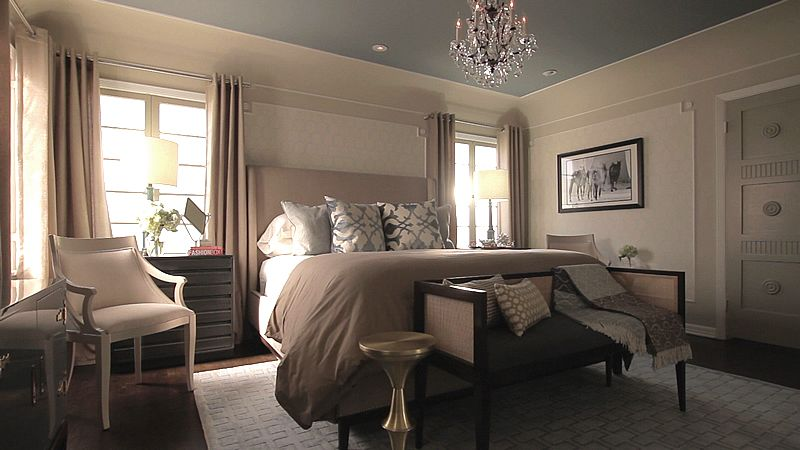 Jeff Lewis Bedroom   Note The Color Of Ceiling Is Gray While Walls Are Taupe