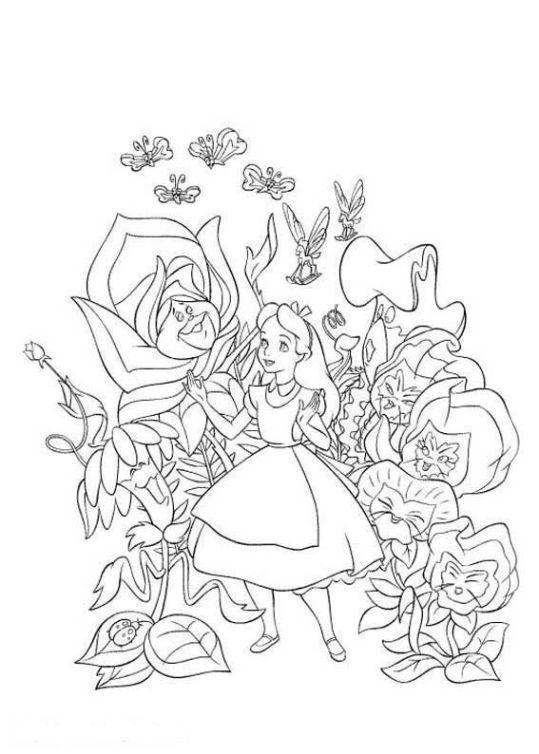 Alice Im Wunderland Malvorlagen Ausdrucken 1 Disney Coloring