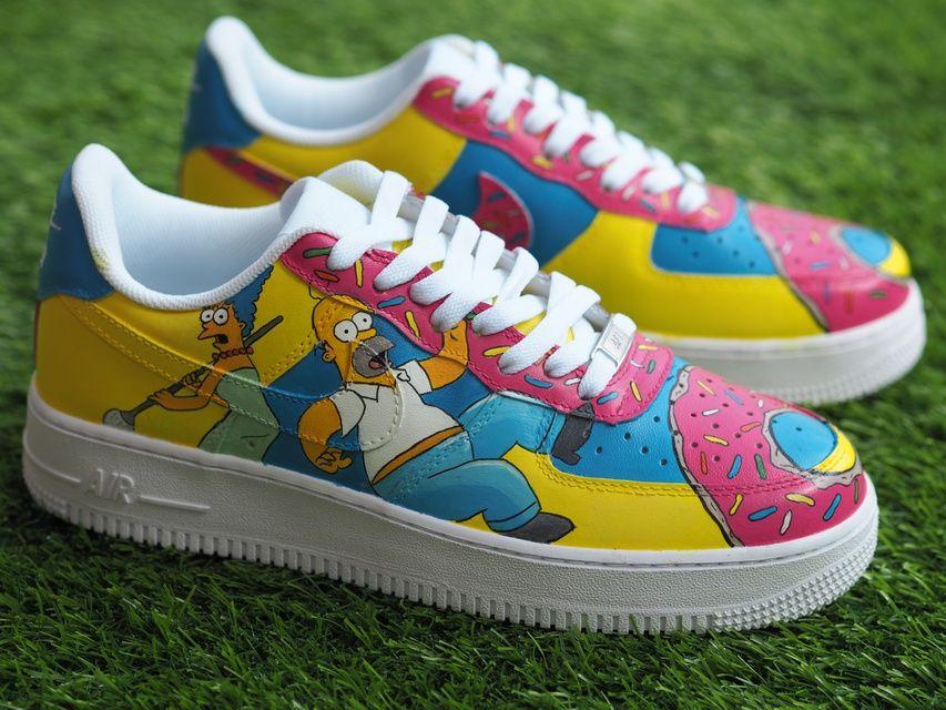 AF1 Simpsons | Sapatos pintados, Tenis sneakers masculino