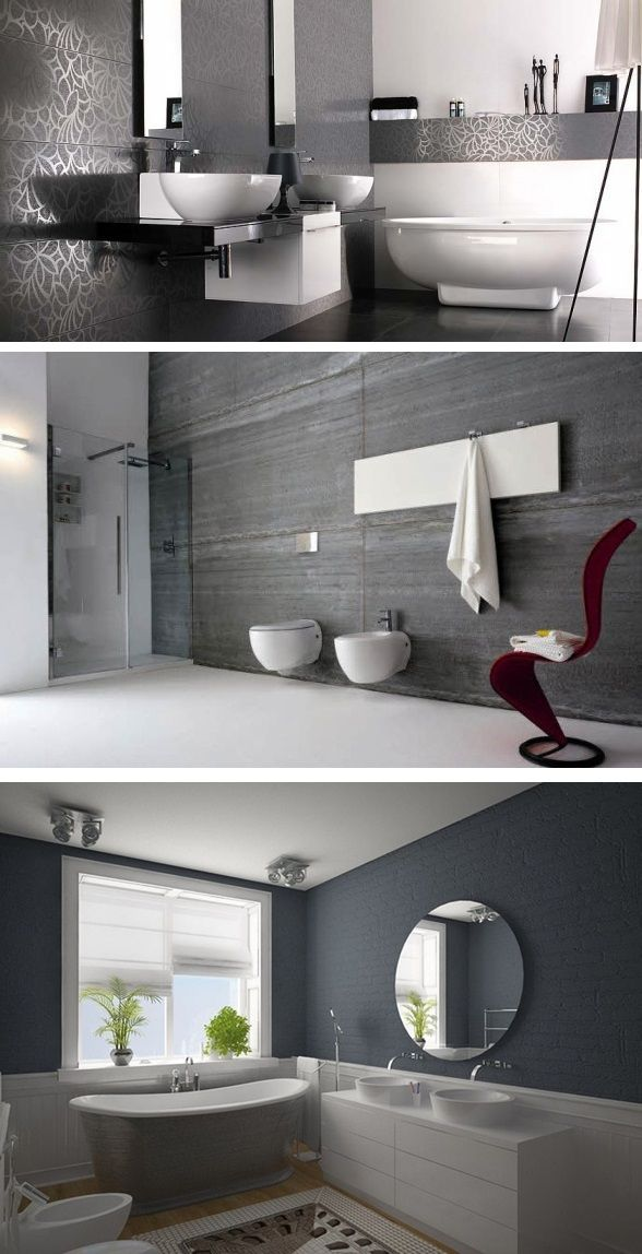 Improve your bathroom with grey bathroom ideas. #greybathroomideas