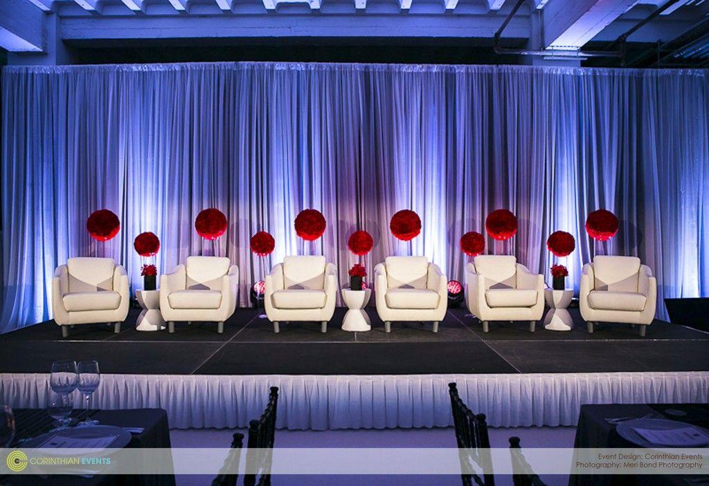 Corinthian Events Decor Speaker Panel Setup Stage Backdrop Corporate