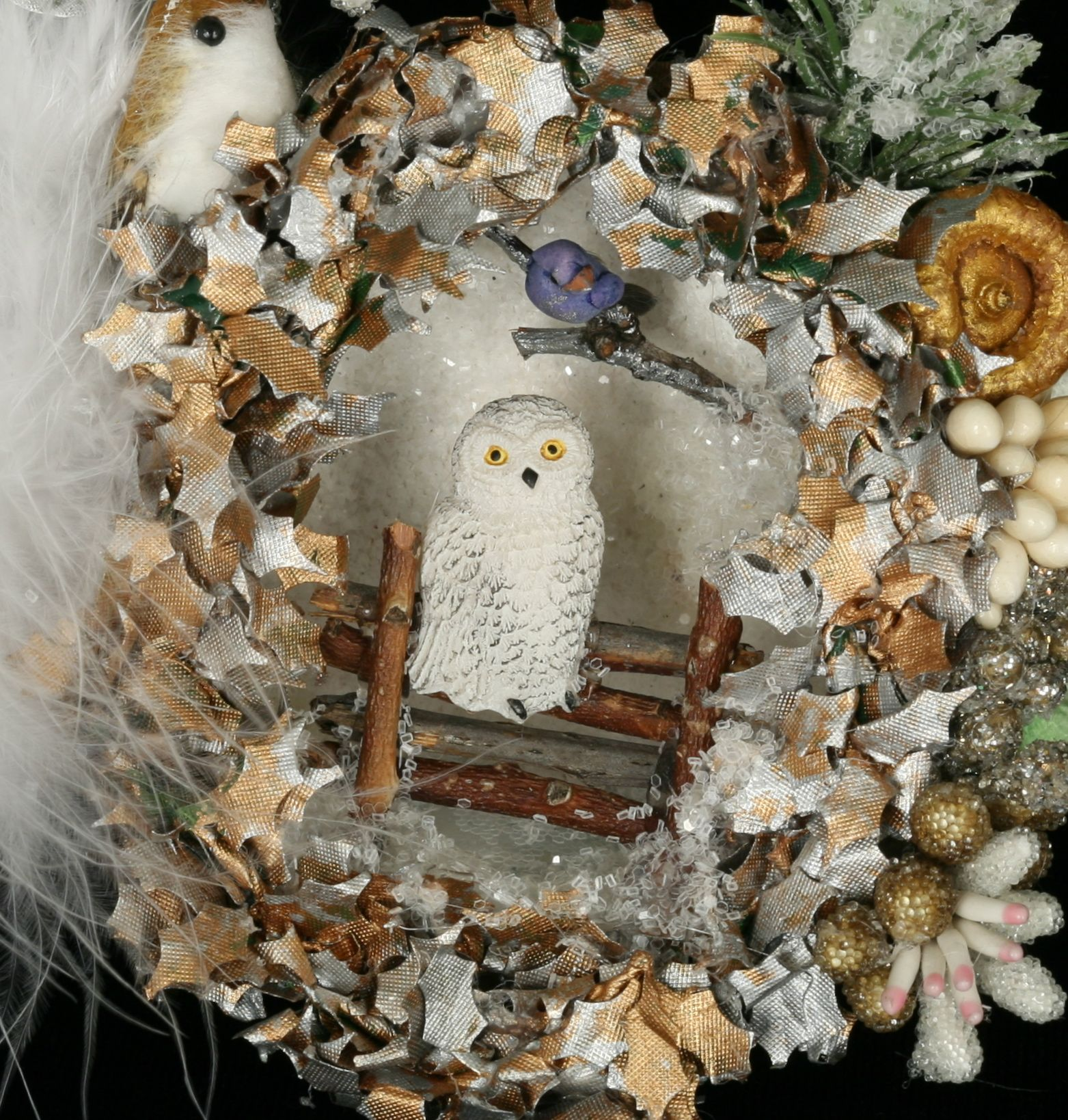 Outside Of Egg Is Covered With Birch Bark And Decorated