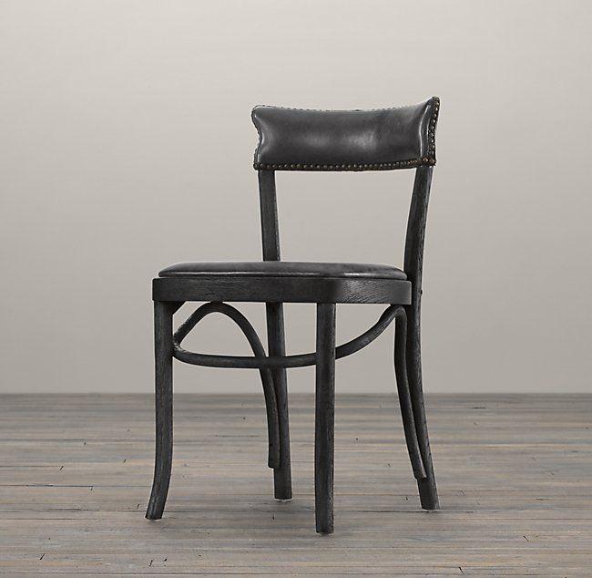 Vienna Café Leather Side Chair