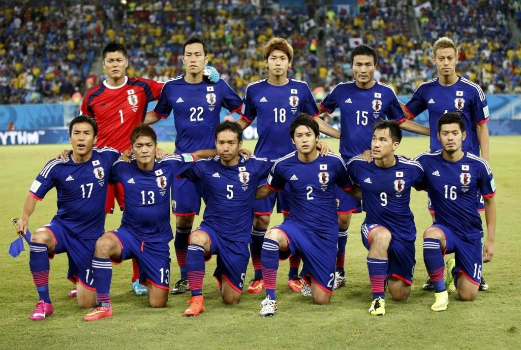 Japan Squad Team Against Greece at World Cup 2014 (World