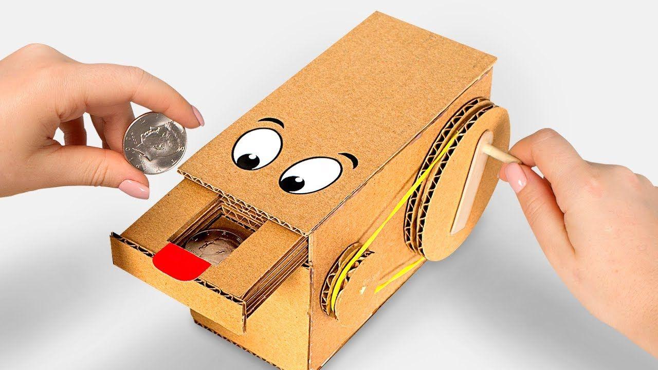 Wow Amazing Diy Personal Coin Saving Bank From Cardboard Youtube Piggy Bank Diy Diy Bank Money Box Diy