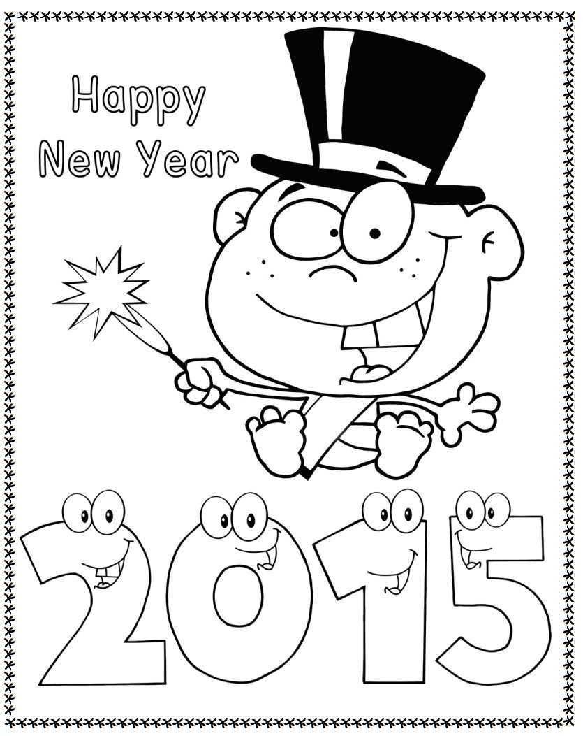 2015 New Year Coloring Pages Baby Coloring Pages Coloring Pages