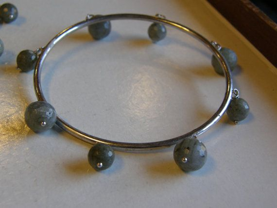 Ladies Sterling Silver Green Quartz Bangle by MAINSTREETCOINS