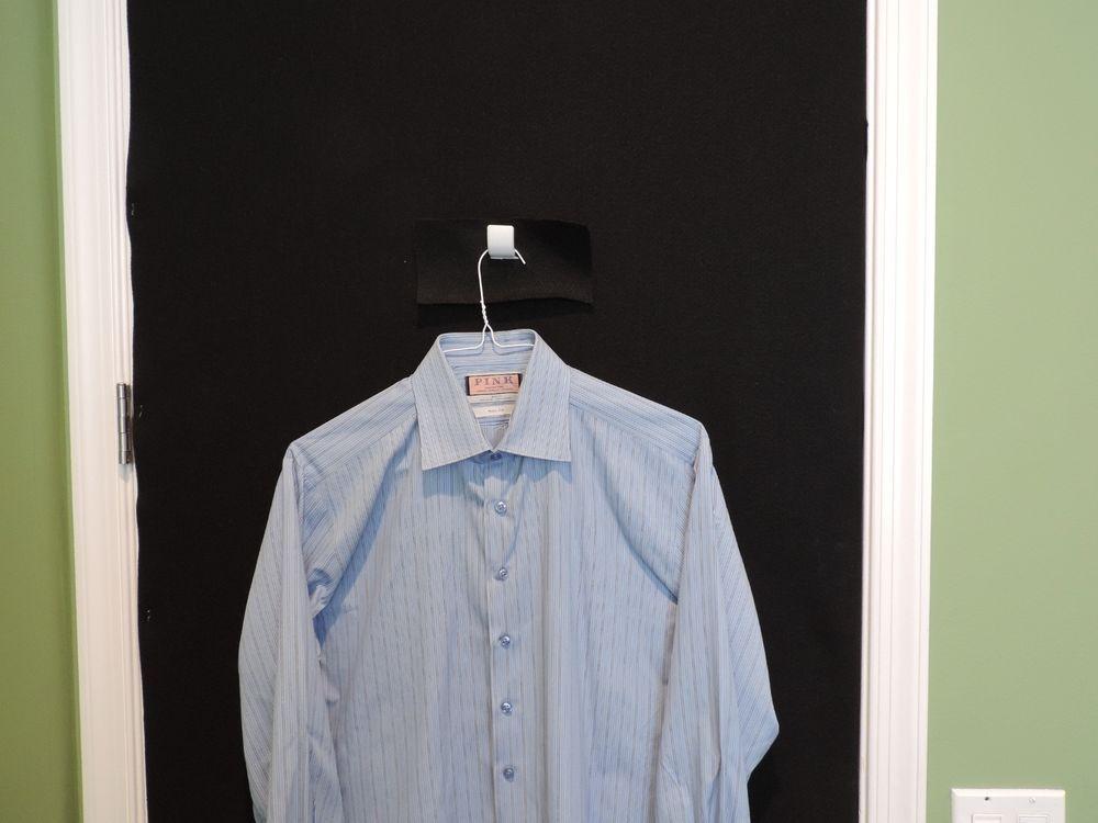 8a2b30012e THOMAS PINK Designer Blue Striped Dress Shirt SZ 16-41 Mint French Cuffs  #ThomasPink
