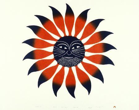 New • Kenojuak Ashevak Inuit • ART CARD • FLOWER BIRD