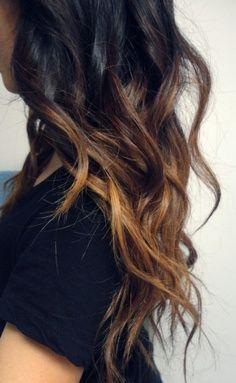 Dark Hair With Light Tips Hair Color Dark Diy Ombre Hair Hair Styles