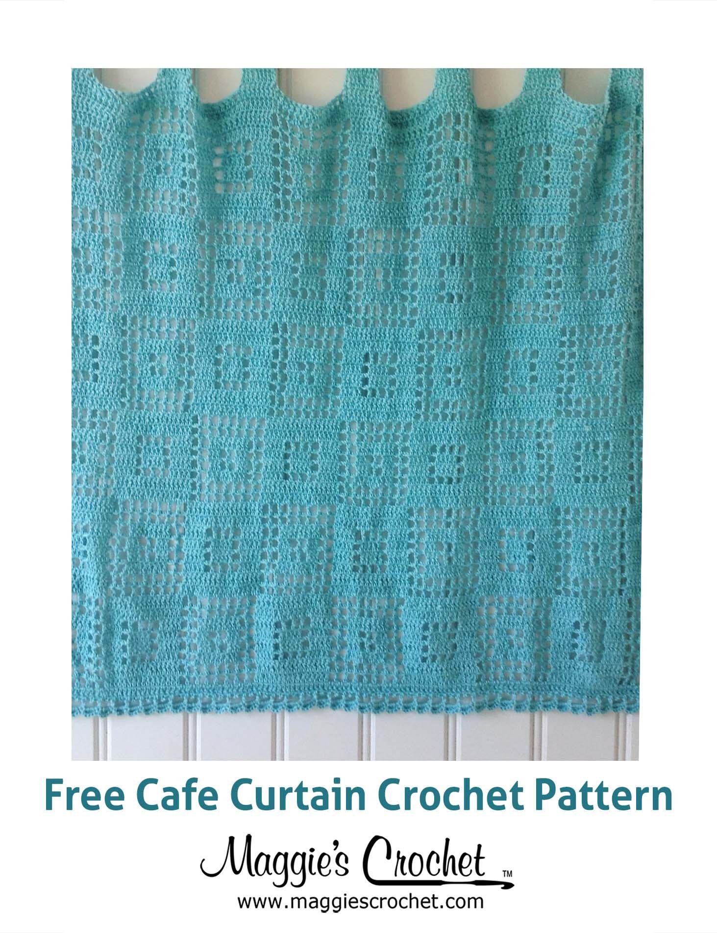 Cafe Curtain Free Crochet Pattern | CROCHET FREE PATTERNS ...