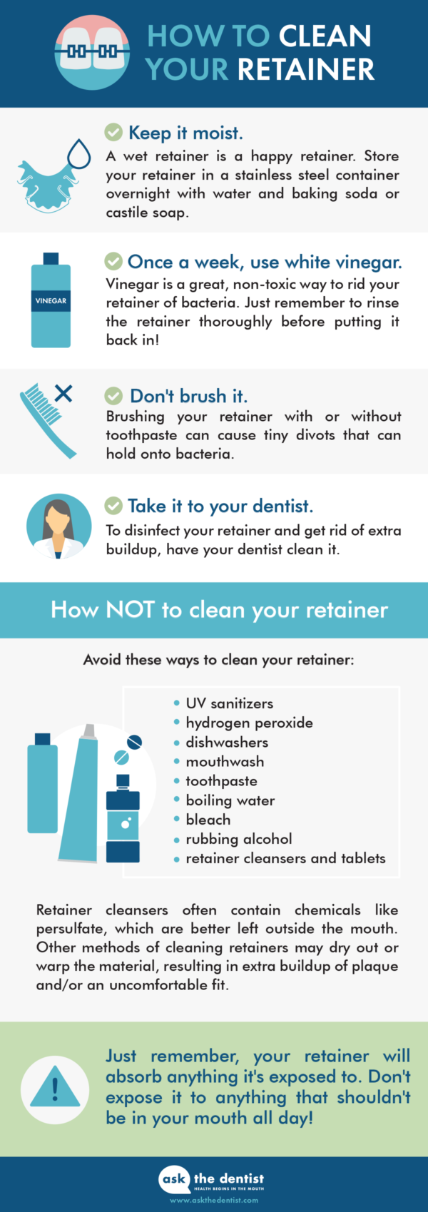 The Best 4 Ways To Clean Your Retainer (No Harsh Chemicals