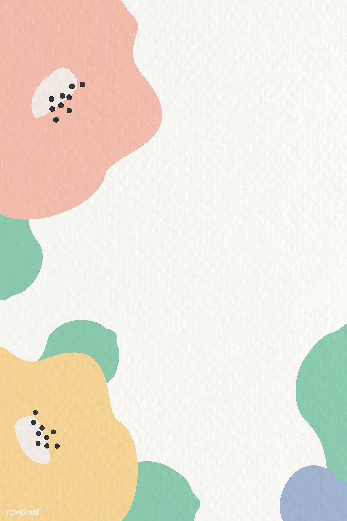 Download premium vector of Botanical pattern frame on beige background
