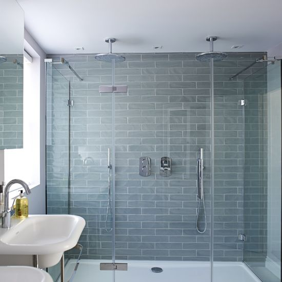 LUXURY BATHROOM IDEAS Double up on luxury with a walk-in shower