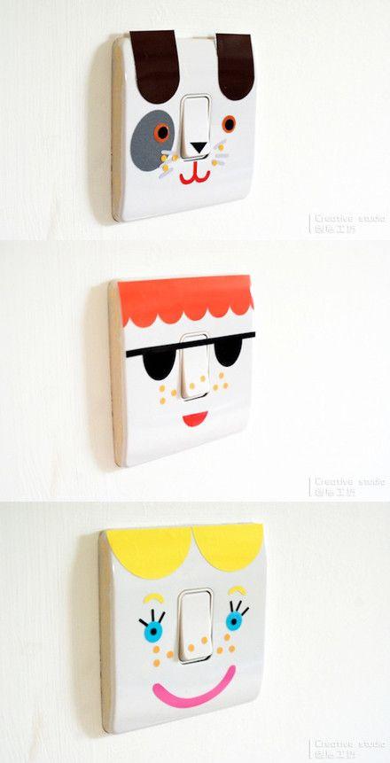 cute light switch stickers