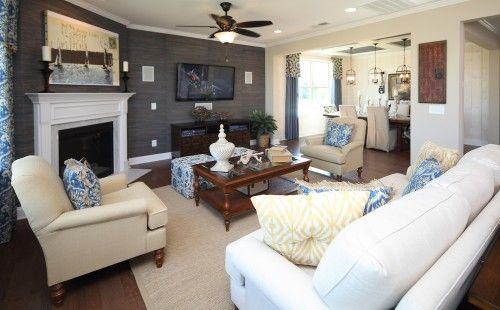furniture placement living room fireplace tv white grey wall covering corner renovations