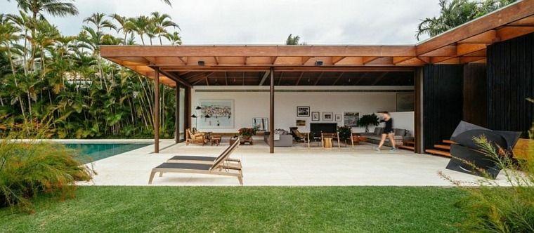 Architecture design  une jolie maison ouverte sur l\u0027extérieur