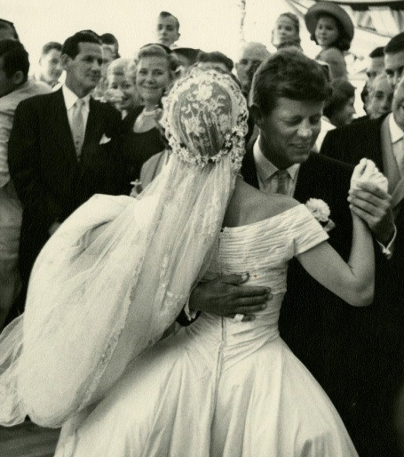 Jacqueline Kennedy Wedding Gown: Wedding Pic; Fun Fact: Jackie Hated Her Wedding Dress, Was
