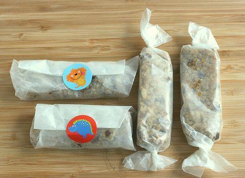homemade granola bars-cute packaging