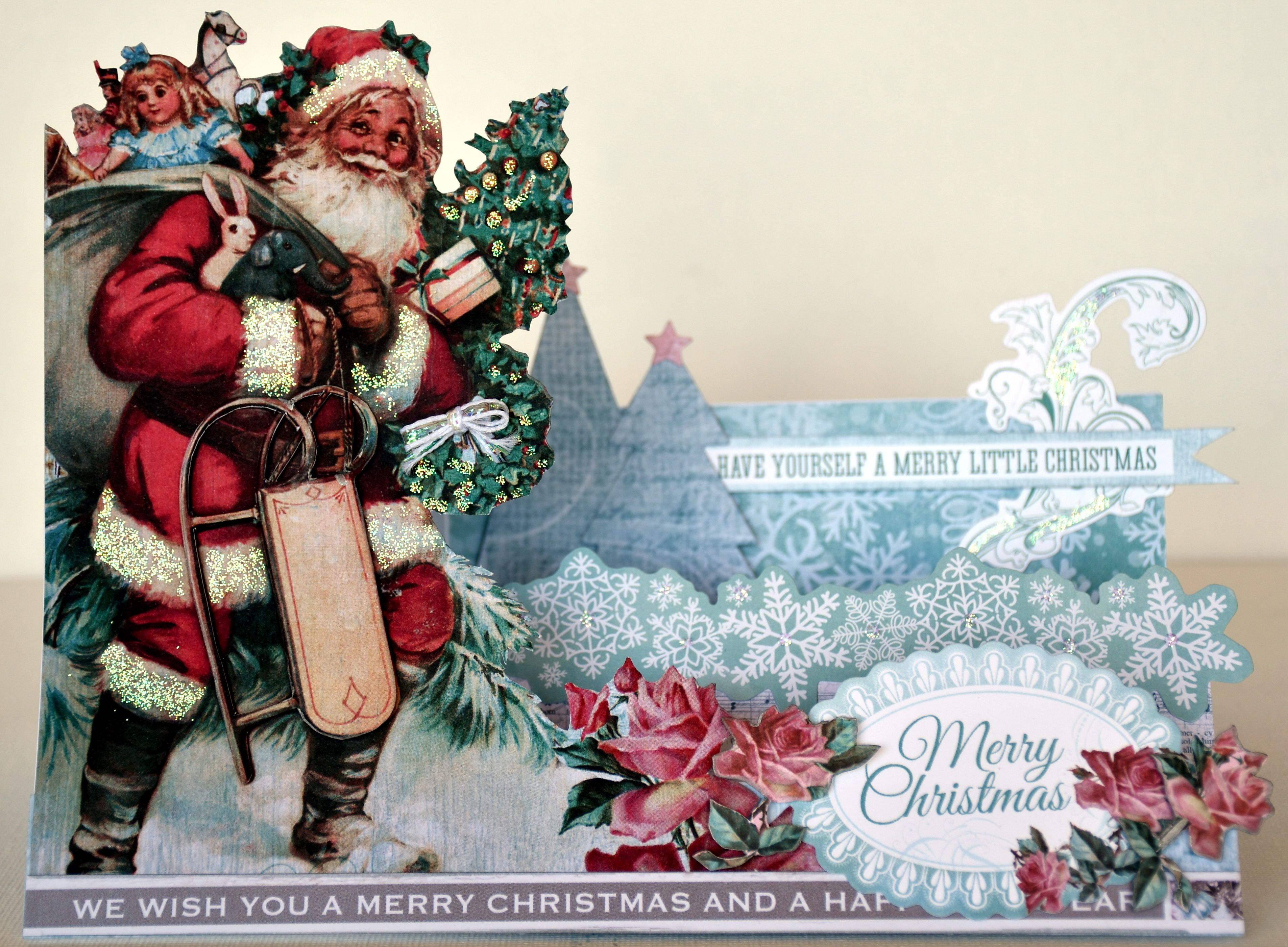 Kaisercraft Silver Bells Collette Step Card With Video Tutorial
