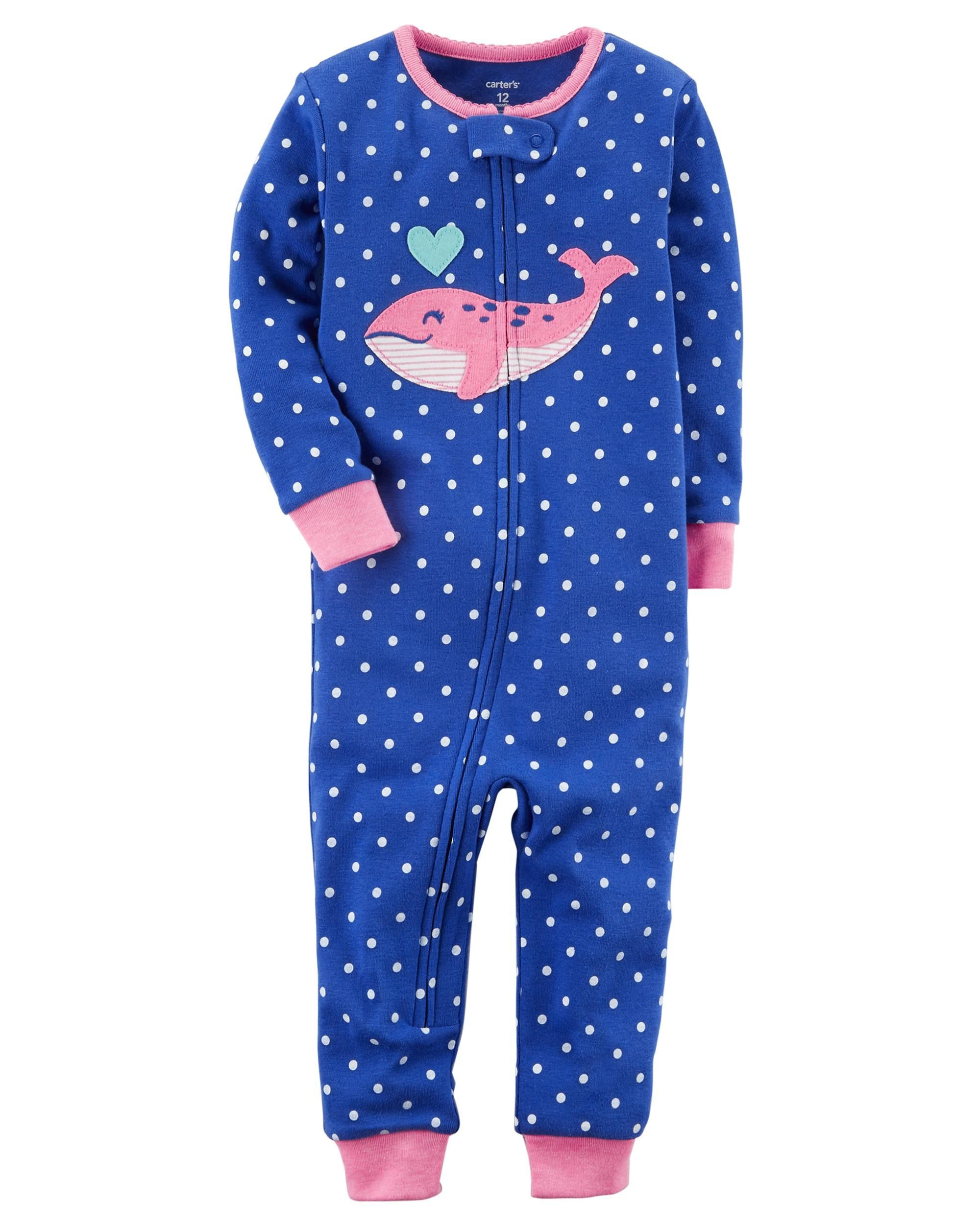 0e74aabf330b Baby Girl 1-Piece Neon Snug Fit Cotton Footless PJs