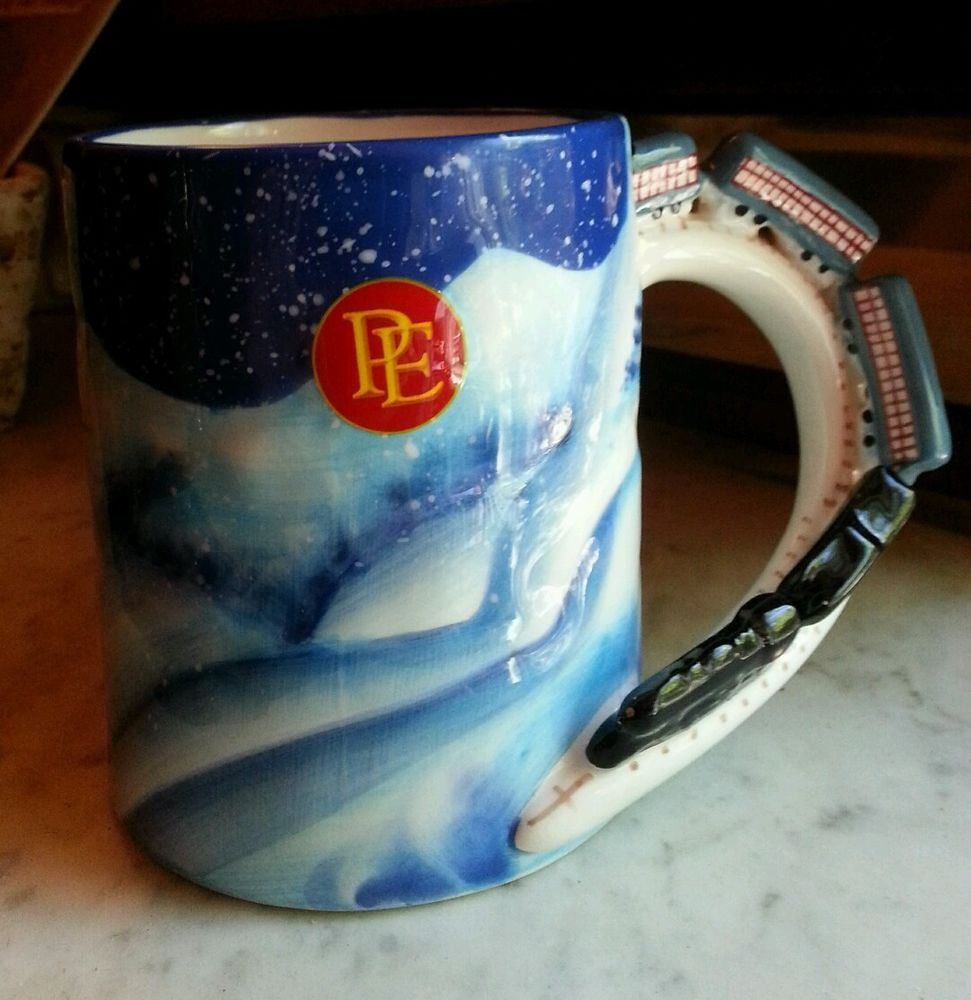 Polar Express Believe Hallmark Mug with Train Handle and Occasional Sound
