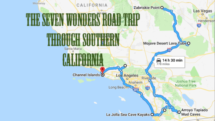 This Scenic Road Trip Takes You To All 7 Wonders Of Southern California Road Trip Mojave National Preserve Channel Islands National Park