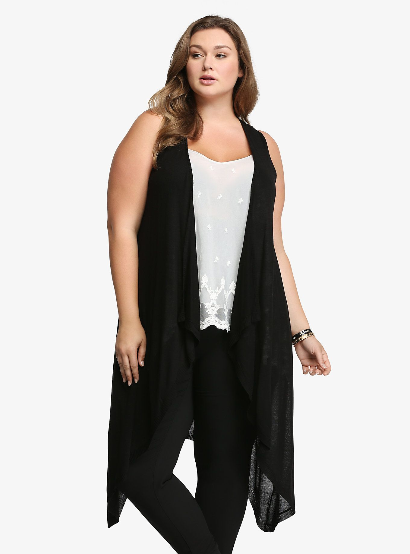 Long drape front vest torrid an hourglass with more sand