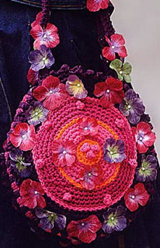0 454 Flower Bag Pattern By Drops Design Stuff I Want To Make
