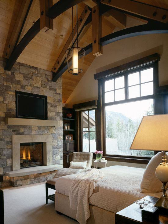 Stunning Modern Rustic Interior Designs Ideas Stunning Traditional Bedroom Stone Fireplace Residence At Crystal Lake Bedroom Design Home Remodel Bedroom