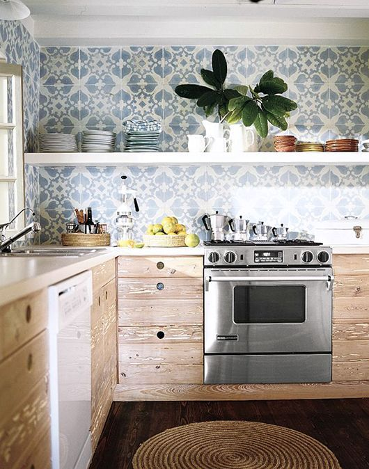 Patterned Tile Backsplash D Autres Gadgets Ici Http Amzn To
