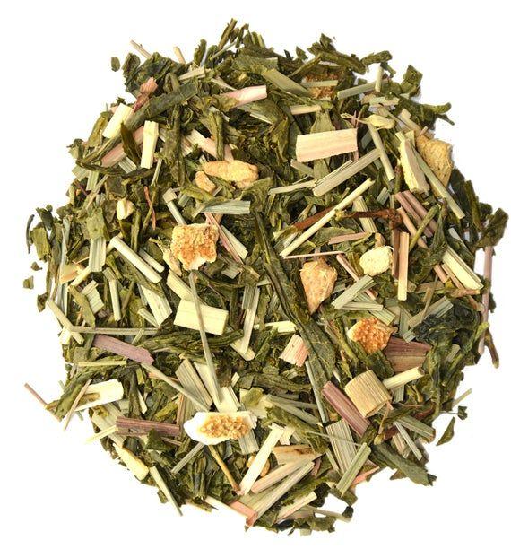 Photo of Nine Virtues Green Tea Blend Lemon And Ginger Taste Loose Leaf Tea