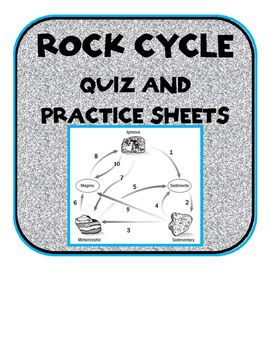 Rock cycle quiz with answer key and practice worksheets science practice and assess your students knowledge of the rock cycle with this quiz and set of ccuart Image collections